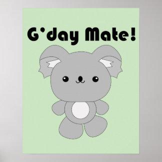 Kawaii Koala poster