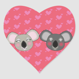 Kawaii koalas in love sticker