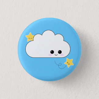 Kawaii Kokeshi Cloud Pin