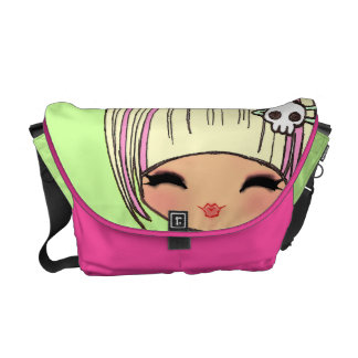 kawaii kokeshi doll harajuku messenger bag