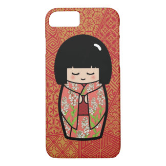 Kawaii Kokeshi (Pink) Japanese Doll iPhone 8/7 Case