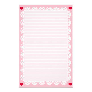 Kawaii Lace Heart Paper Stationery Design