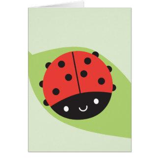 Kawaii Ladybug Card
