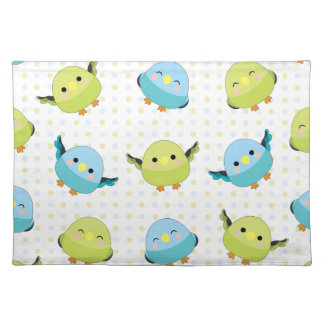 Kawaii Lineolated Parakeet Gear Placemat