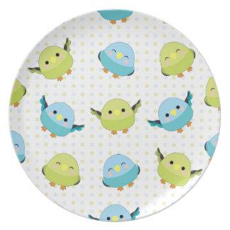 Kawaii Lineolated Parakeet Gear Plate