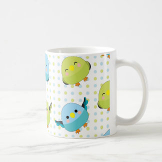 Kawaii Lineolated Parakeet Mug