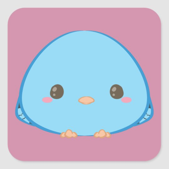 Kawaii Lineolated Parakeet Stickers
