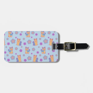 Kawaii Long and Short Hair Yorkie Cartoon Dogs Luggage Tag
