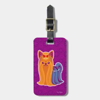 Kawaii Long Hair Yorkie Cartoon Dog Bag Tag