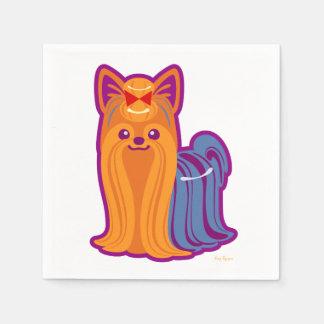 Kawaii Long Hair Yorkie Cartoon Dog Disposable Napkin