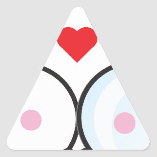 Kawaii Love Clouds Triangle Sticker