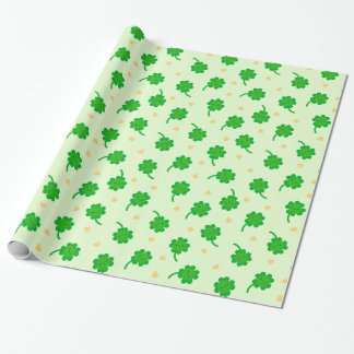 Kawaii Lucky Clover Wrapping Paper