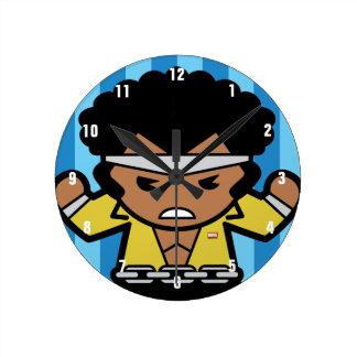 Kawaii Luke Cage Flexing Round Clock