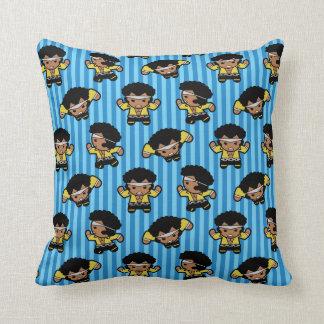 Kawaii Luke Cage Flexing Throw Pillow