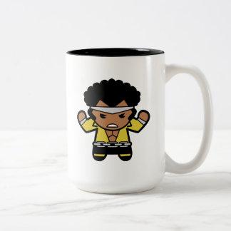 Kawaii Luke Cage Flexing Two-Tone Coffee Mug