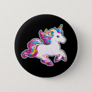 Kawaii Magical Candy Unicorn 2 Inch Round Button
