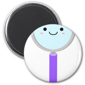 Kawaii magnifying glass 2 inch round magnet