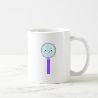 Kawaii magnifying glass coffee mug