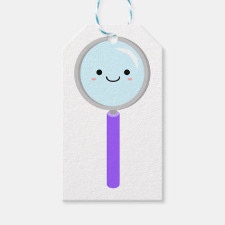 Kawaii magnifying glass gift tags