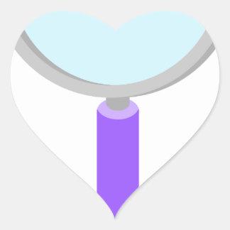Kawaii magnifying glass heart sticker