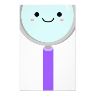 Kawaii magnifying glass stationery paper