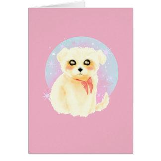 Kawaii Maltese Puppy Dog Card
