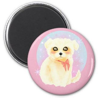 Kawaii Maltese Puppy Dog Magnet