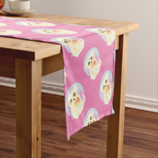 Kawaii Maltese Puppy Dog Short Table Runner