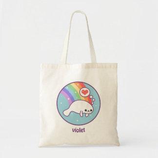 Kawaii Manatee Tote Bag