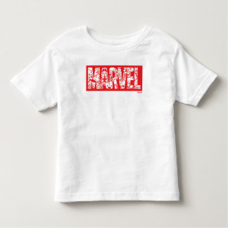 Kawaii Marvel Logo With Super Hero Pattern Toddler T-shirt