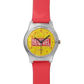 Kawaii Marvel Logo With Super Hero Pattern Watch