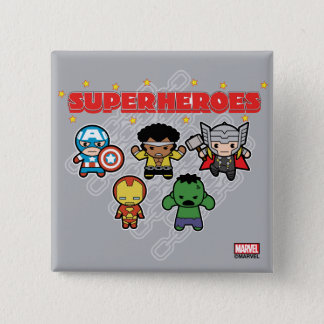 Kawaii Marvel Super Heroes 2 Inch Square Button