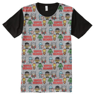 Kawaii Marvel Super Heroes All-Over-Print T-Shirt