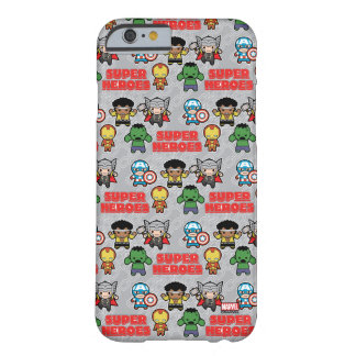 Kawaii Marvel Super Heroes Barely There iPhone 6 Case