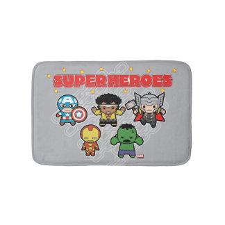 Kawaii Marvel Super Heroes Bath Mat