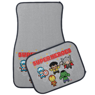 Kawaii Marvel Super Heroes Car Mat