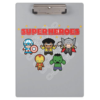 Kawaii Marvel Super Heroes Clipboard