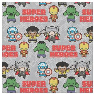 Kawaii Marvel Super Heroes Fabric