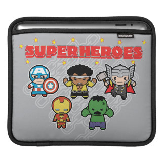 Kawaii Marvel Super Heroes iPad Sleeve