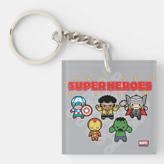 Kawaii Marvel Super Heroes Keychain
