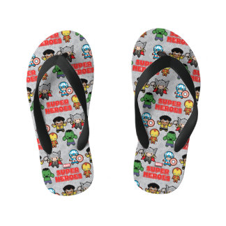Kawaii Marvel Super Heroes Kid's Flip Flops