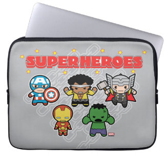 Kawaii Marvel Super Heroes Laptop Sleeve