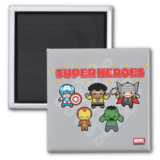 Kawaii Marvel Super Heroes Magnet