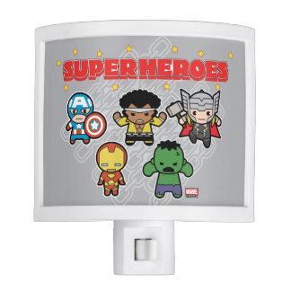 Kawaii Marvel Super Heroes Night Light