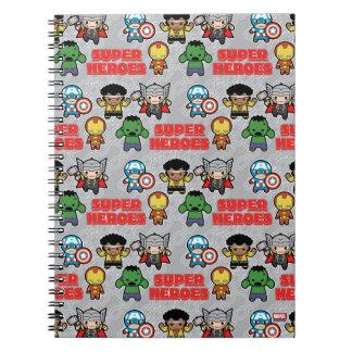 Kawaii Marvel Super Heroes Notebook
