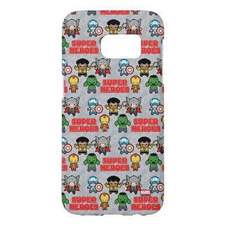 Kawaii Marvel Super Heroes Samsung Galaxy S7 Case