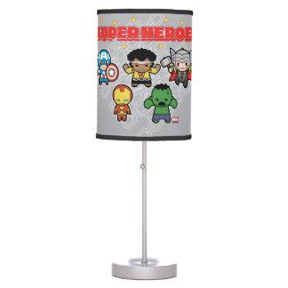 Kawaii Marvel Super Heroes Table Lamp