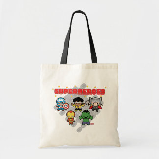 Kawaii Marvel Super Heroes Tote Bag