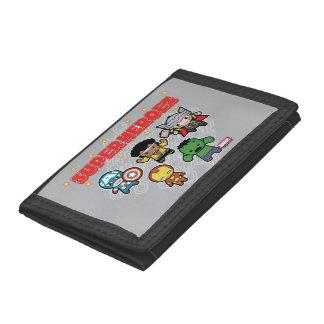 Kawaii Marvel Super Heroes Tri-fold Wallets