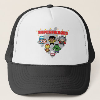Kawaii Marvel Super Heroes Trucker Hat